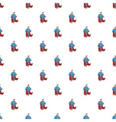 Superhero standing pattern cartoon style vector image vector image