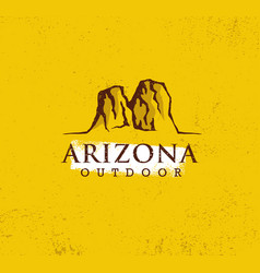 arizona outdoor adventure mountain hiking creative vector image
