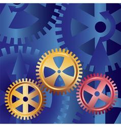 golden gears vector image