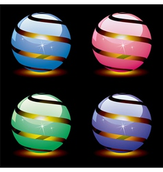 3d shiny globes vector image vector image