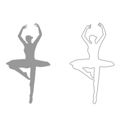 ballet dancer set icon vector image