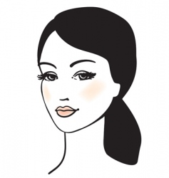 beauty girl face vector portrait vector image vector image
