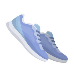 blue sneakers for sports sports shoes gym and vector image vector image