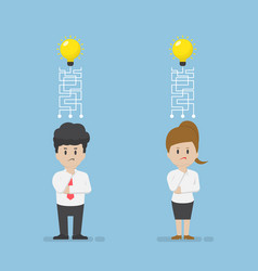 businessman and businesswoman lost their idea vector image