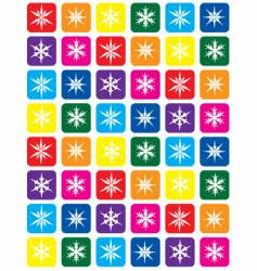color snowflake pattern background vector image vector image