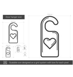 door hanger line icon vector image vector image