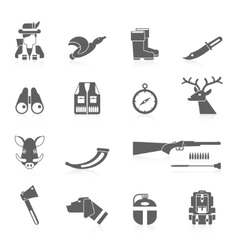 Hunting Icon Black Set vector image vector image