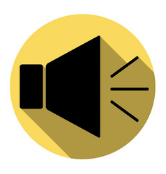 sound sign with mute mark vector image