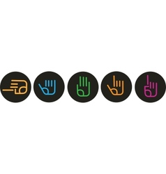 Collection of various hand signs vector image vector image