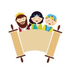 kids wearing costumes from Purim story arranged vector image vector image