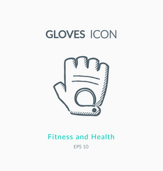 sport gloves icon on white background vector image vector image