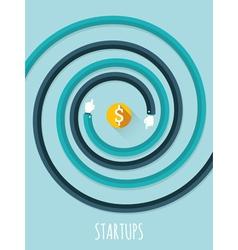Startups vector image