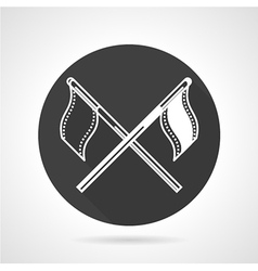 Team flags black round icon vector image vector image
