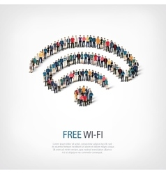 wi-fi people crowd vector image vector image