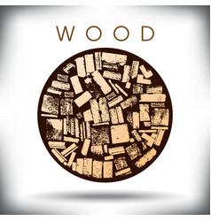 Wood Bucket vector image