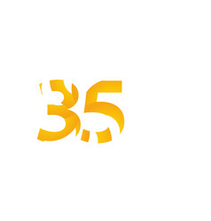 35 years anniversary celebration number template vector
