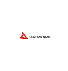 abstract triangle red company logo vector image