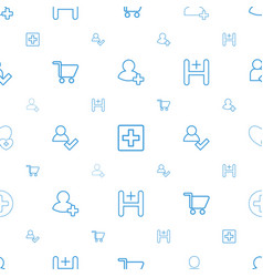 Add icons pattern seamless white background vector