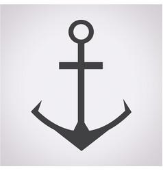 anchor icon vector image