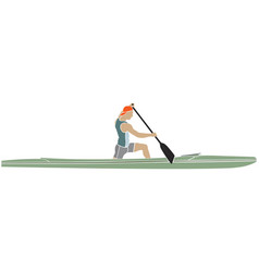 athlete on a sports canoe vector image