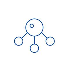 atommolecula line icon concept atommolecula vector image