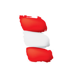 austria flag on a white vector image