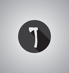 axe symbol flat vector image