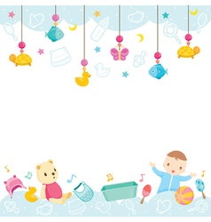 Baby Icons And Objects Background vector