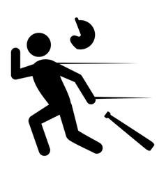 baseball player pictogram vector image