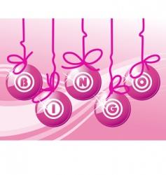 bingo balls in pink color vector image