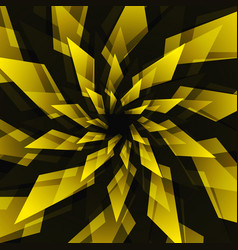 Black star and yellow abstract background vector