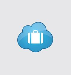 Blue cloud Case icon vector