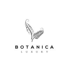botanics logo bio cosmetics emblem organi vector image