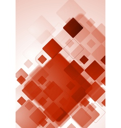 Bright red tech design vector image