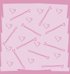 brush and pins hair care backround vector image