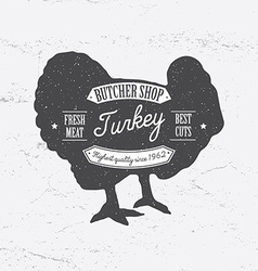 Butcher Shop Logo template retro style Vintage vector image