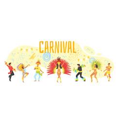 carnival design template vector image