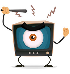 Censorship terror and brainwash on tv vector