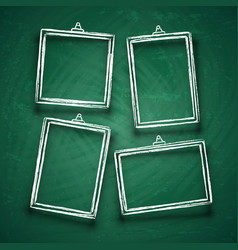 Chalk cute photo frames abstract picture frame vector