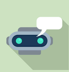 chatbot sms icon flat style vector image