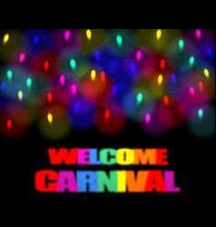 christmas carnival festivity festival of garland vector image