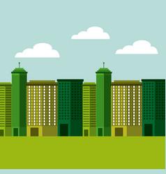city green ecology cityscape vector image