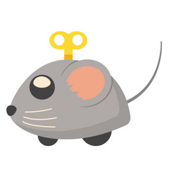 clockwork mouse cat toy flat icon vector image