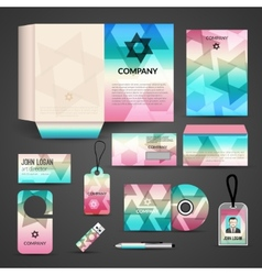 Corporate identity design vector image