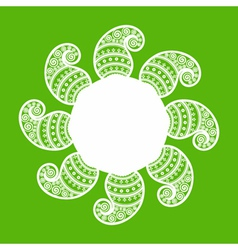 creative floral design background vector image