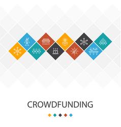 Crowdfunding trendy ui template infographics vector