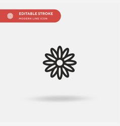 Daisy simple icon symbol vector