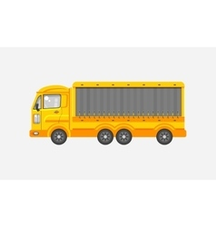 Delivery truck side view vector image