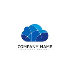 Digital cloud logo icon design vector