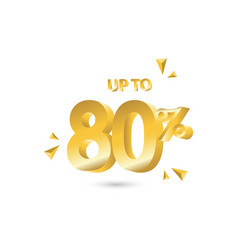Discount up to 80 template design vector